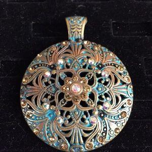Large pendant! Stunning colors!